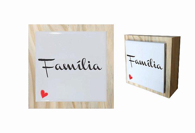 07-04-C022 Cubo Decor Cru - Família Coração