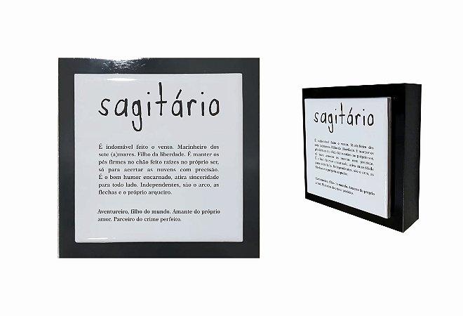 07-04-P007 Cubo Decor Preto - Sagitário