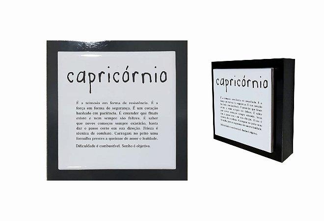 07-04-P008 Cubo Decor Preto - Capricórnio