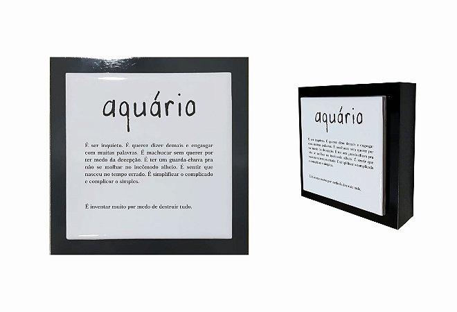 07-04-P009 Cubo Decor Preto - Aquário