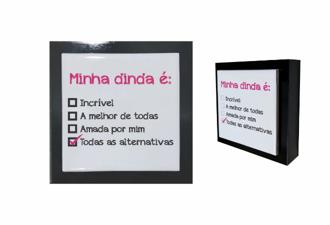 07-04-P015 Cubo Decor Preto - Dinda