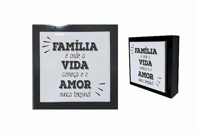 07-04-P016 Cubo Decor Preto - Família