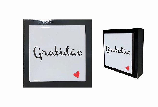 07-04-P019 Cubo Decor Preto - Gratidão Coração