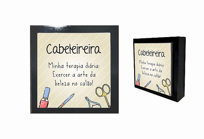 07-04-P032 Cubo Decor Preto - Cabeleireira