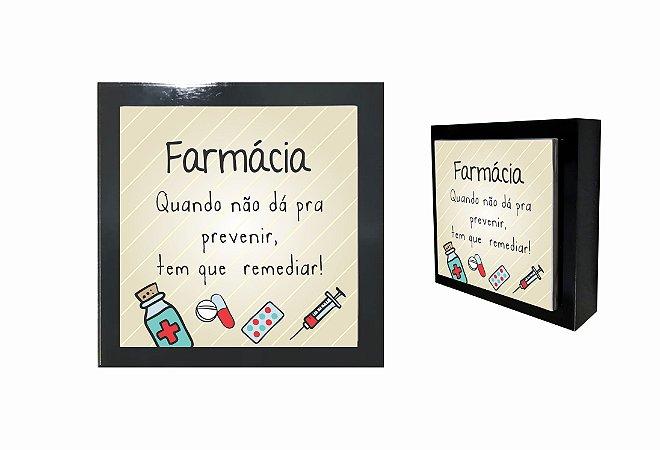 07-04-P035 Cubo Decor Preto - Farmácia