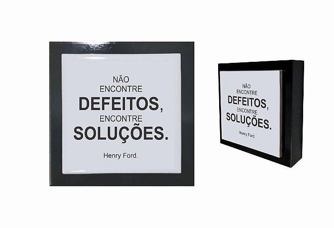 07-04-P037 Cubo Decor Preto - Defeitos
