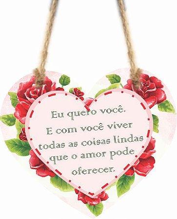 1759-C013 Móbile Coração -Eu quero você