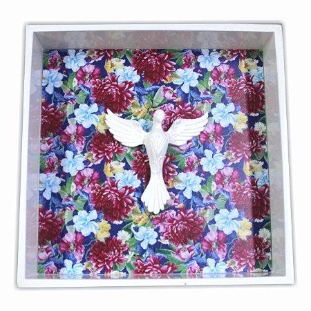 3003-003 Quadro Espírito Santo - Floral azul
