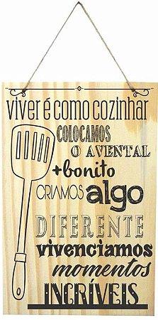1759-Q004 Placa de madeira - Viver