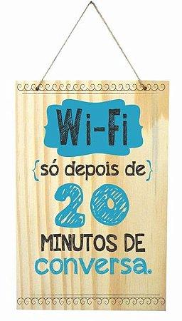 1759-Q009 Placa de madeira - Wi-Fi