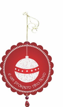 1955-003 Móbile Natal Bola - Árvore branca