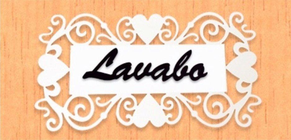 14-03-PL Placa Coração - Lavabo