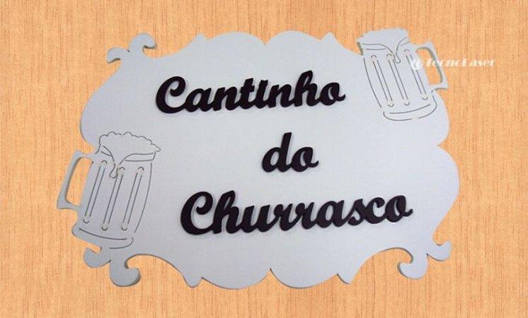 14-17-P Placa Arabesco Cantinho do churrasco