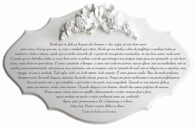 14-23-P Placa Oração - Carta de Paulo