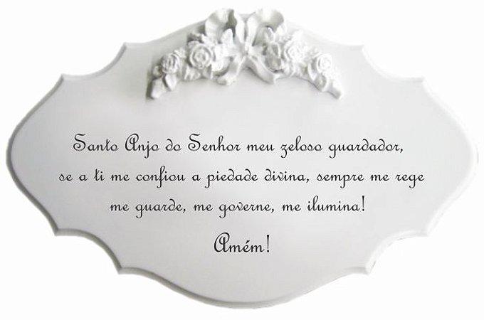 14-25-P Placa Oração - Santo Anjo