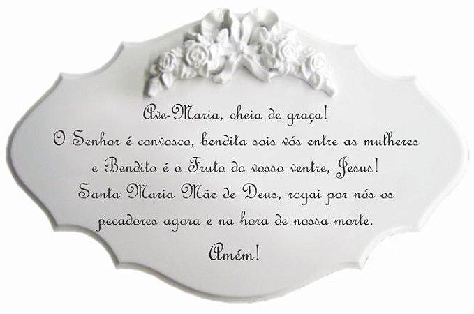 14-29-P Placa Oração - Ave Maria