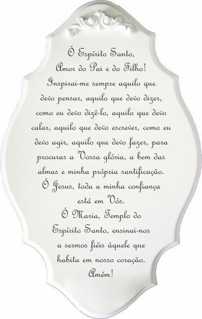 14-30-P Placa Oração - Espírito Santo Vertical