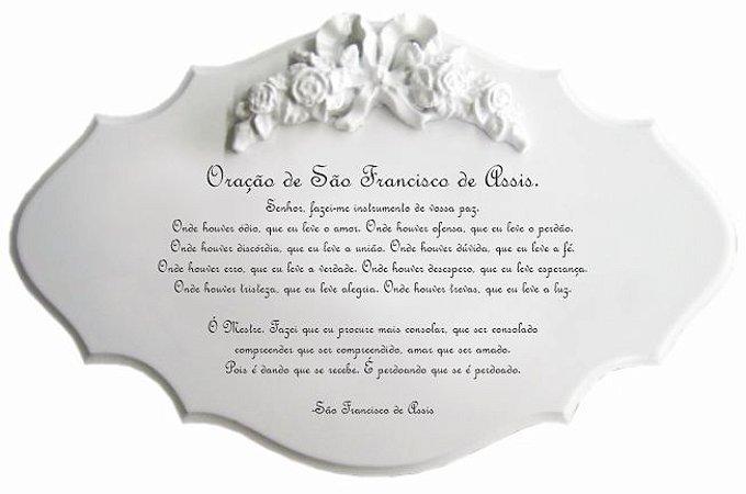 14-48-P Placa Oração - Oração São Francisco