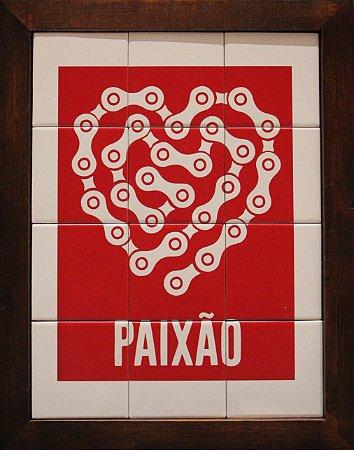 3093AM-008 Quadro de azulejo - Paixão