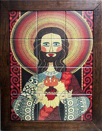 3093AM-027 Quadro de azulejo - Jesus