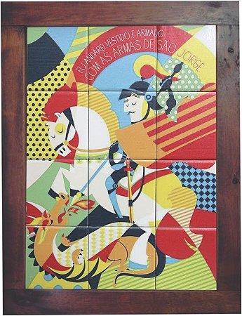 3093AM-029 Quadro de azulejo - São Jorge