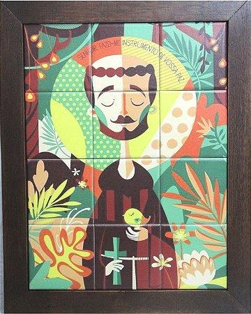 3093AM-030 Quadro de azulejo - São Francisco