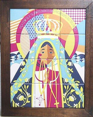 3093AM-031 Quadro de azulejo - Nossa Senhora Aparecida