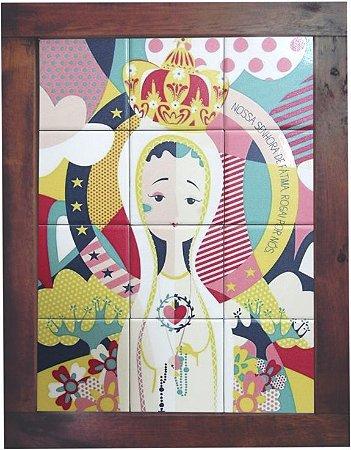 3093AM-032 Quadro de azulejo - Nossa Senhora de Fátima
