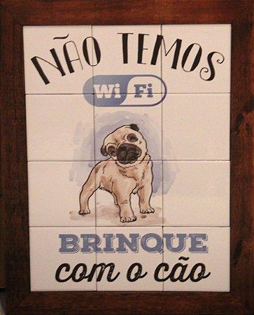 3093AM-043 Quadro de azulejo - Cão