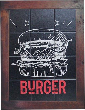 3093AM-052 Quadro de azulejo - Burger