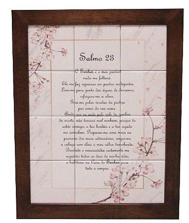 3093AM-053 Quadro de azulejo - Salmo 23