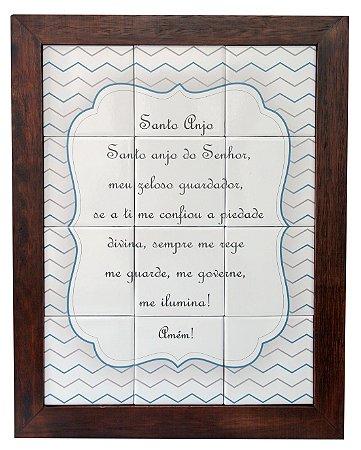 3093AM-055 Quadro de azulejo - Santo Anjo