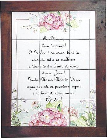 3093AM-056 Quadro de azulejo - Ave Maria