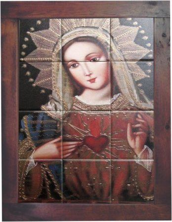 3093AM-058 Quadro de azulejo - Maria