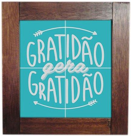 3094AP-003 Quadro de azulejo - Gratidão