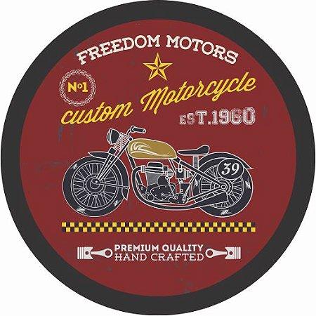 3072-016CF Quadro luminoso com fio - Moto vermelha