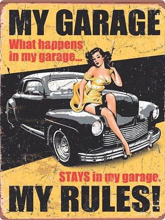 1225 Placa de Metal - Hot Garage Car