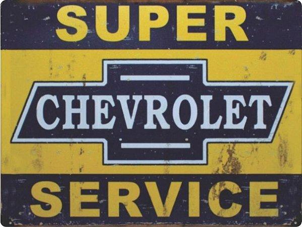 1228 Placa de Metal - Serviço Chevrolet