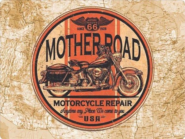 1252 Placa de Metal - Route 66 círculo