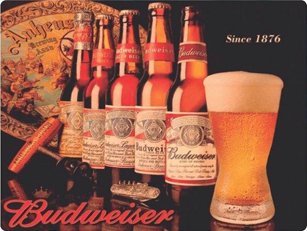 1253 Placa de Metal - Budweiser garrafa