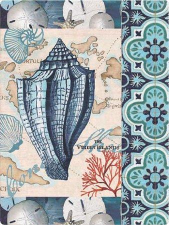 1270 Placa de Metal - Mar português