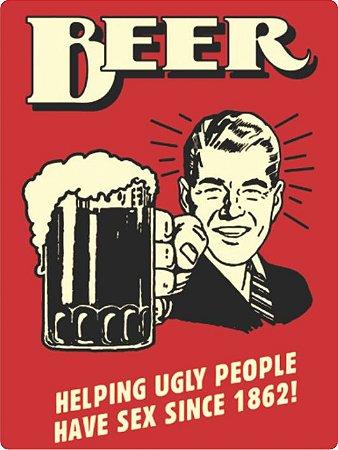 1307 Placa de Metal - Beer Helping