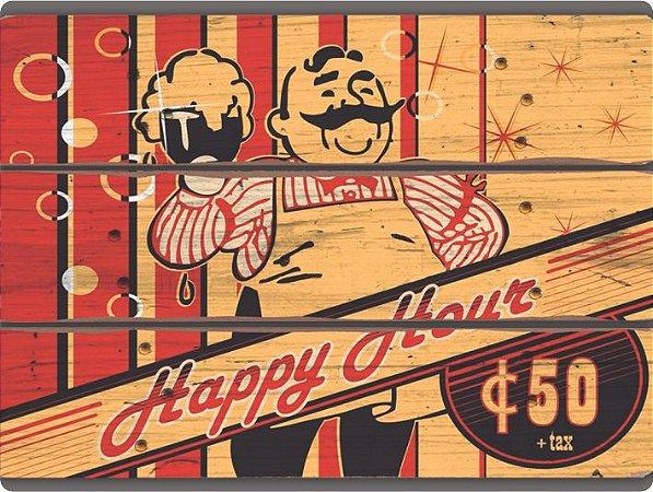 1319 Placa de Metal - Happy Hour