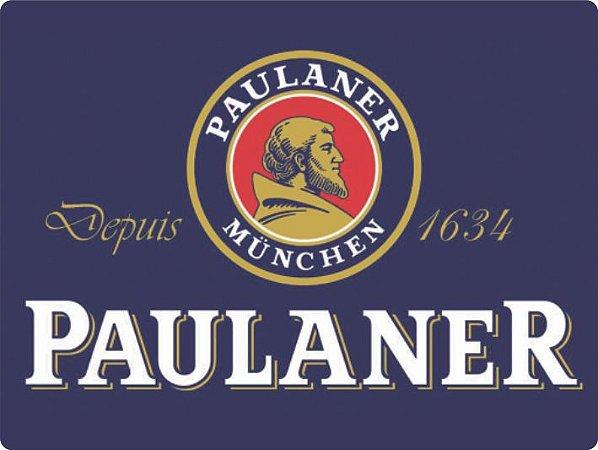 1361 Placa de Metal - Paulaner logo azul