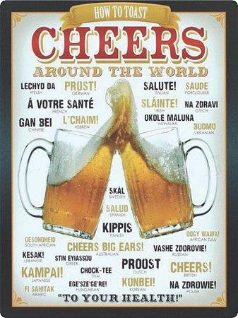 1373 Placa de Metal - Cheers