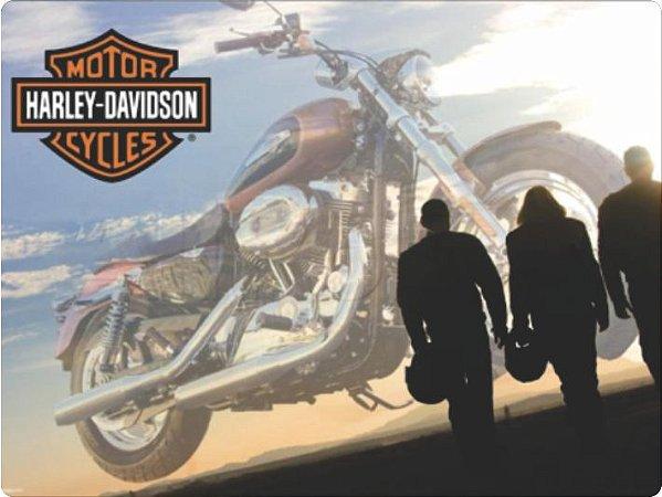 1393 Placa de Metal - Harley pessoas