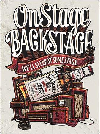 3414 Placa de Metal - Jack Daniels on stage