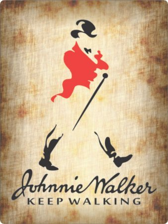 3416 Placa de Metal - Johnny walker keep walking