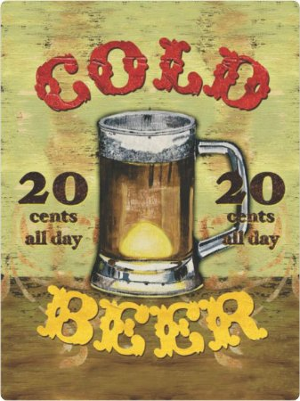 3442 Placa de Metal - Cold Beer