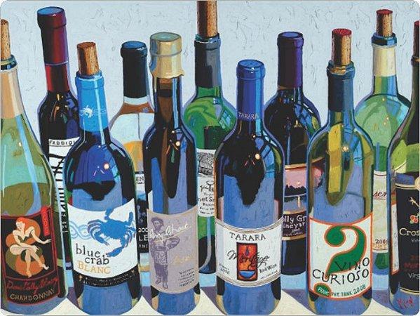 3445 Placa de Metal - Vinho